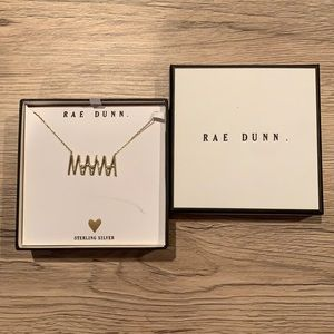 Brand New Rae Dunn MAMA Sterling Silver Necklace